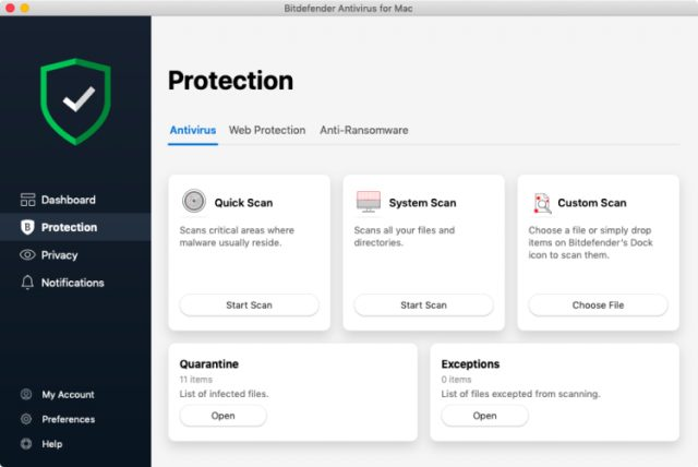 Bitdefender Antivirus for Mac.