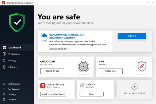 Bitdefender Internet Security 2021.