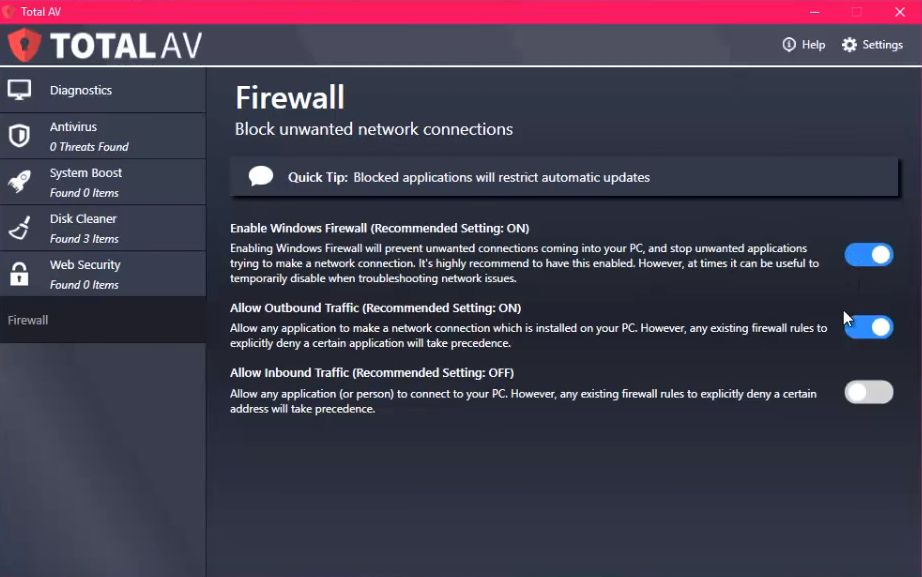 TotalAv Firewall