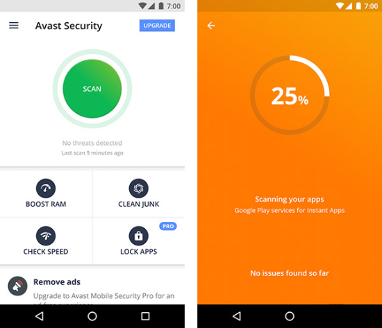 Avast Mobile Security.
