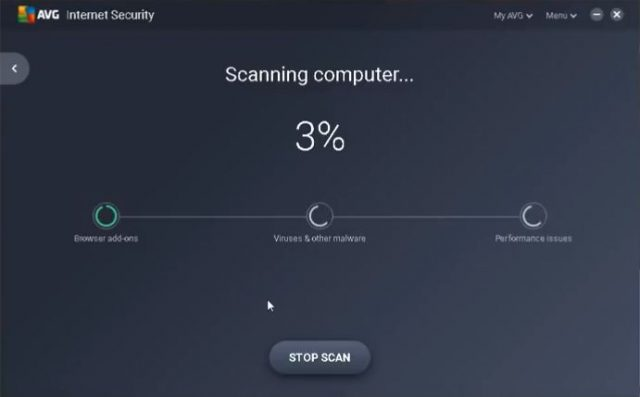 AVG Quick Scan