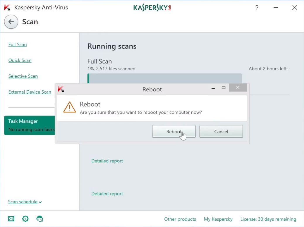 Kaspersky Reboot