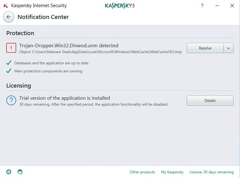 Kaspersky Notification Center