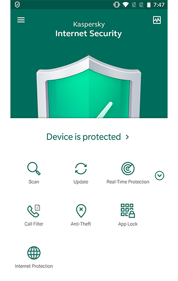 Kaspersky anti-virus for Android.