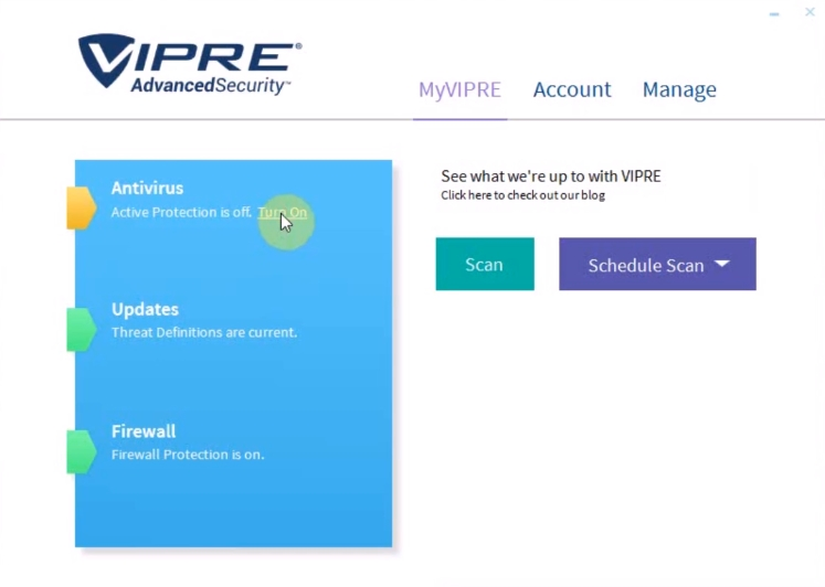 Vipre Interface