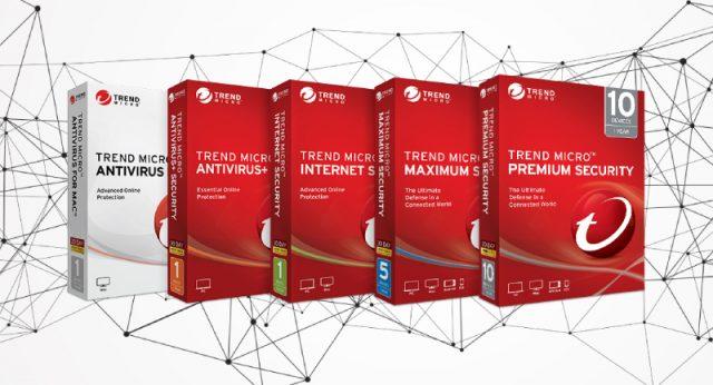 Trend Micro Packages : Sécurité maximale, Scanner en ligne, Outil de suppression, Sécurité Internet