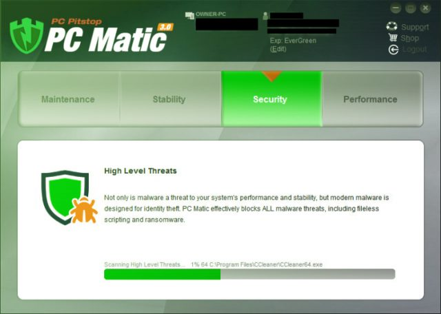 PCMatic (PC Matic) Antivirus review