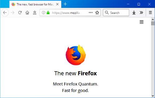 Firefox browser.