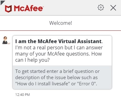 McAfee Virtual Assistant