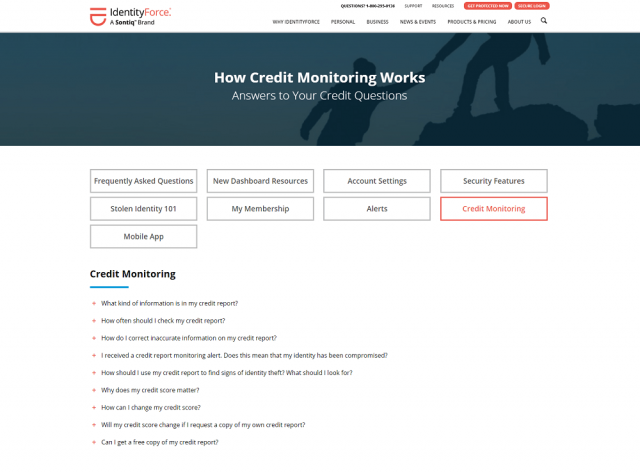 IdentityForce review: How Credit monitoring works.