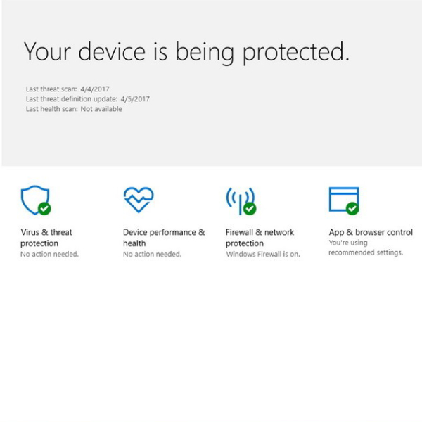 windows defender protection for win10