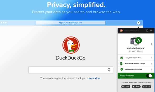 DuckDuckGo Privacy Essentials.