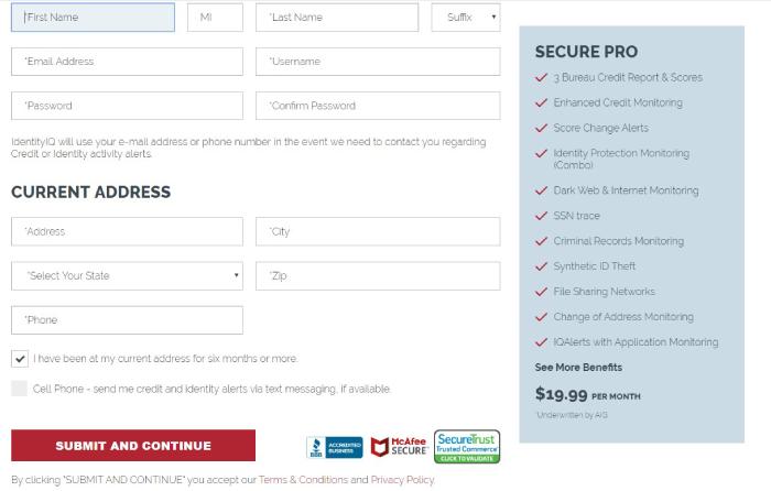 IdentityIQ Secure Pro Login Page.