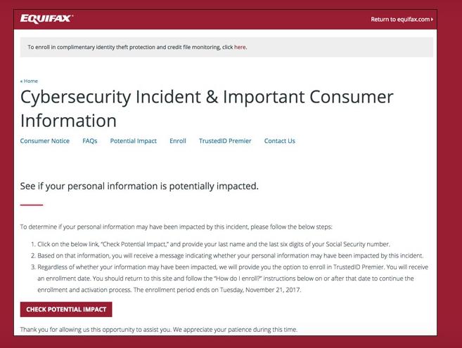 Equifax Fraud Alert.
