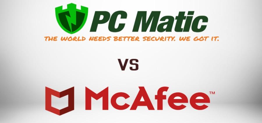 PcMatic vs McAfee Comparison.