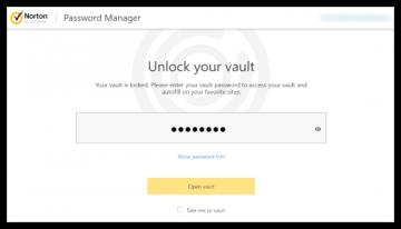 Norton Password Manager-Anmeldung.