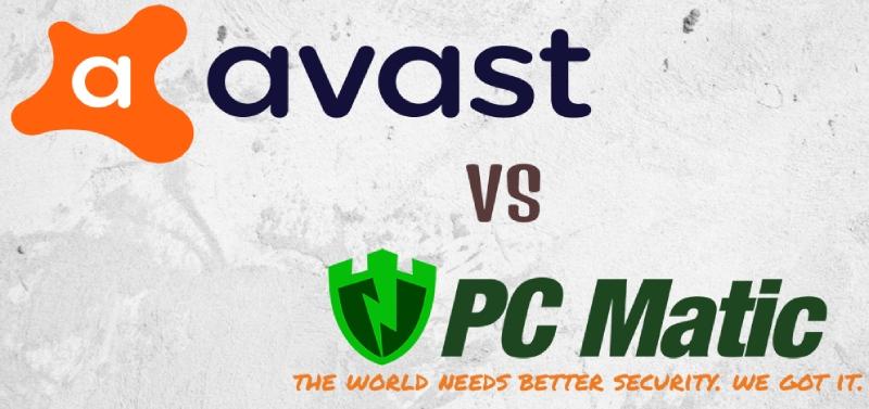 Comparación de Avast vs. PC Matic Antivirus.