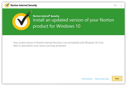 Norton Antivirus Installation.