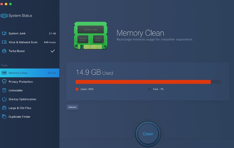 MacBooster Memory Clean.