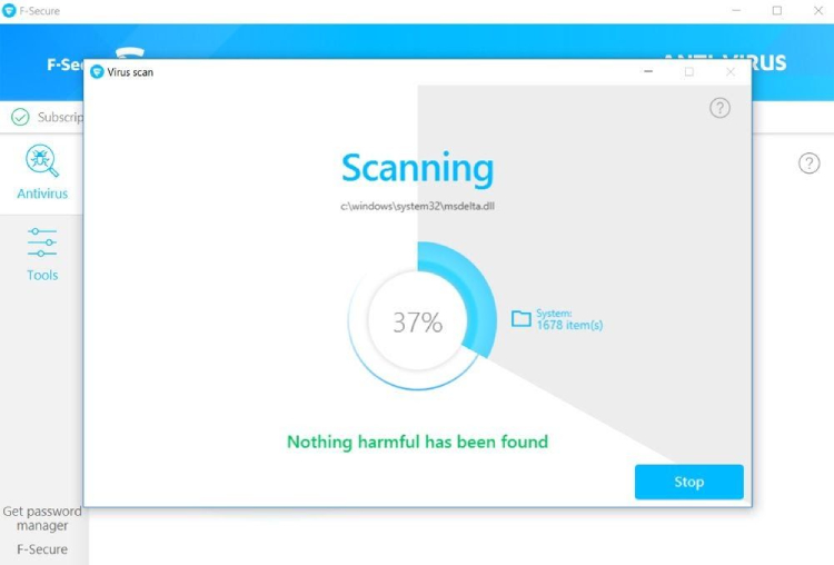 F-Secure Scanning Features.