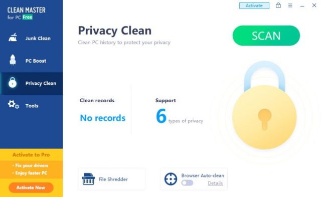 Clean Master Privacy Clean Features.