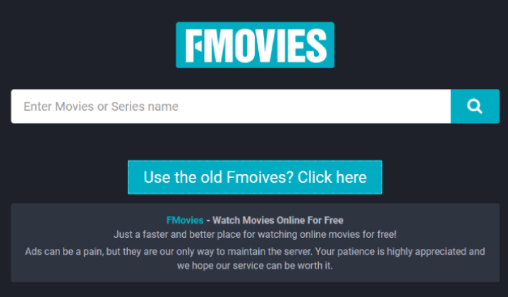 FMovies Starting Page.
